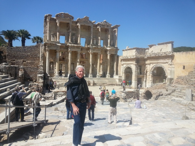 Ron at the Library in Ancient Ephesus, April 2014