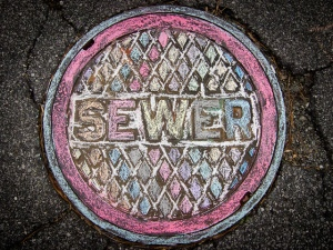 Painted Sewer--Image by Chris Schrler