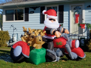 Santa Blow-Up--Image by Rachel Kramer